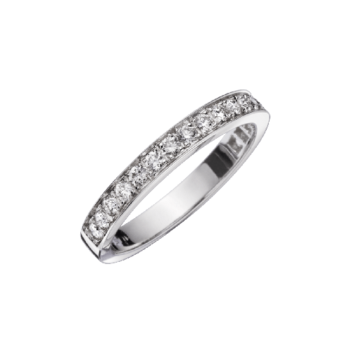 Dream and Love wedding band, diamonds, white gold