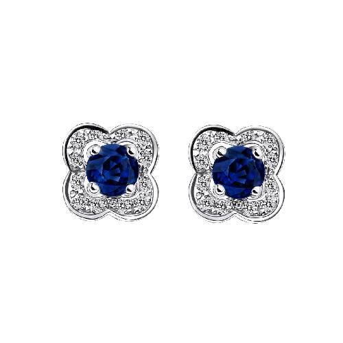 Sex and love earrings, sapphires, white gold