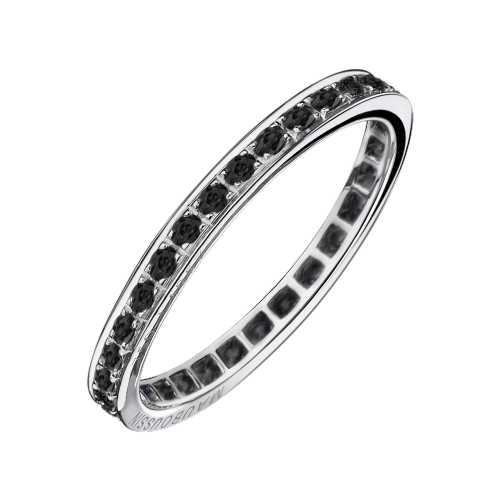 Diam's Sex & Love wedding band, black diamonds, white gold