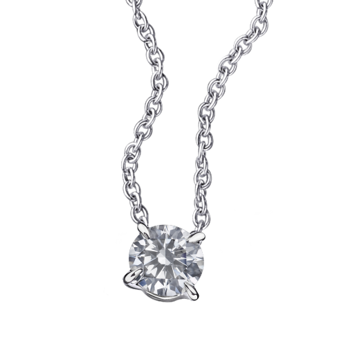 Mon Diamant pendant, white gold and 0.30ct diamond