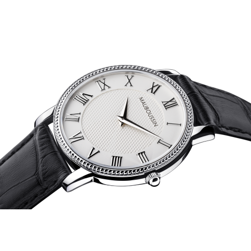 Jardin du Palais Royal watch, white dial, large