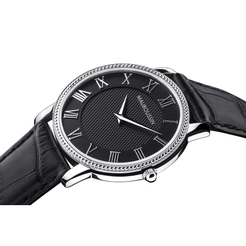 Jardin du Palais Royal watch, black dial, large