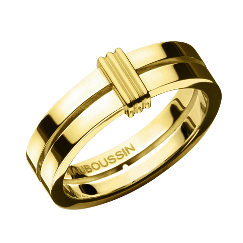 Subtile Eternité wedding band, yellow gold