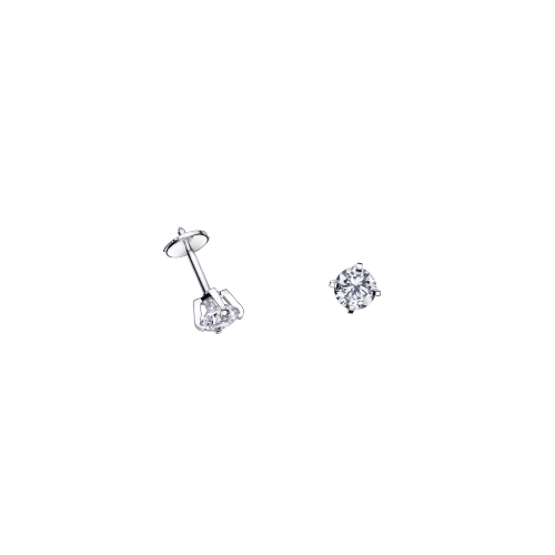 Puce d'Amour earrings, diamond