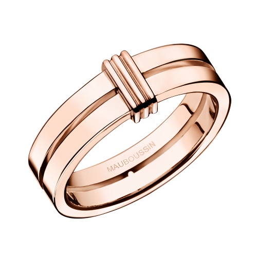 Subtile Eternité wedding band, pink gold