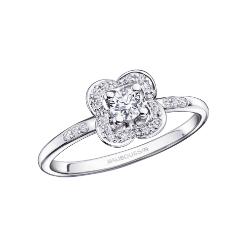 Chance Super One ring, white gold and diamonds