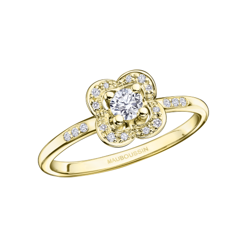 Chance Super One ring, yellow gold and diamonds