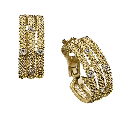 Le premier Jour earrings, yellow gold