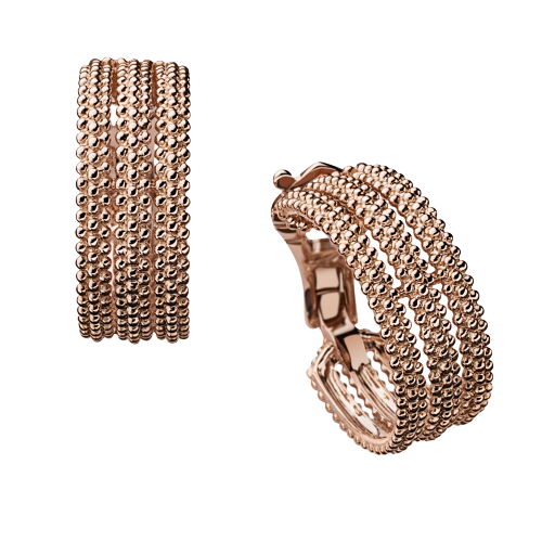 Le Premier Jour earrings, pink gold