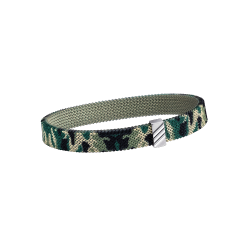 Bracelet Camoufle Moi, Camoufle Toi, steel and white gold
