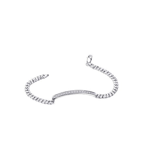 Mi-Chaine Mi-Diamant bracelet, white gold and diamonds