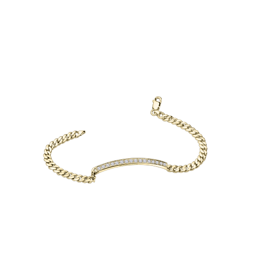 Mi-Chaine Mi-Diamant bracelet, yellow gold and diamonds