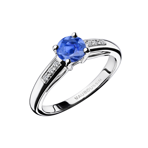 Grand mot d'amour engagement ring, light Sapphire