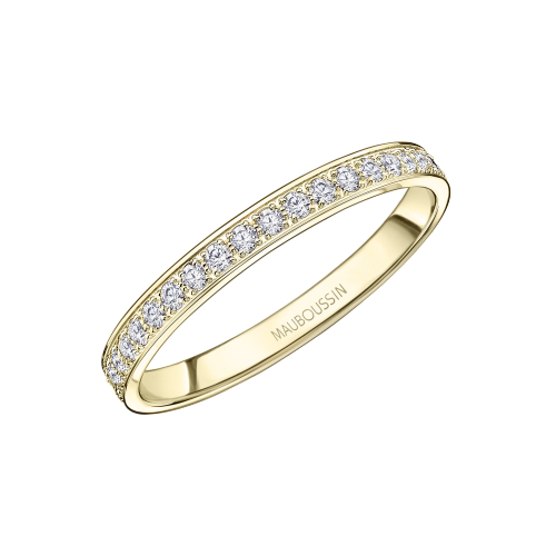 Lovissime Wedding Band, yellow gold and diamonds