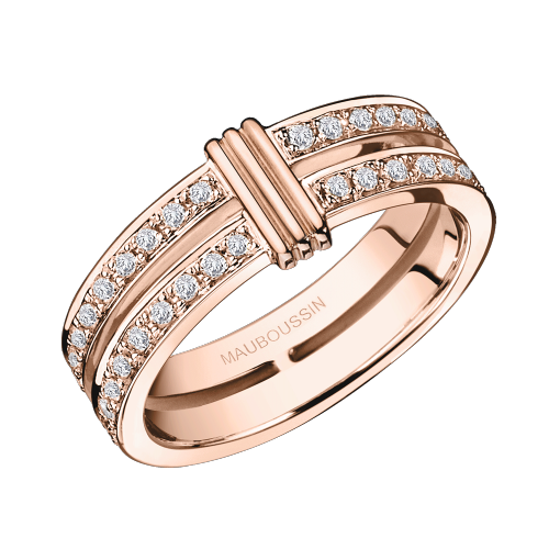 Subtile Eternité, pink gold and diamonds