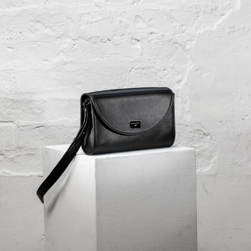 Je t'attends, je t'aime N°1 leather crossbody bag
