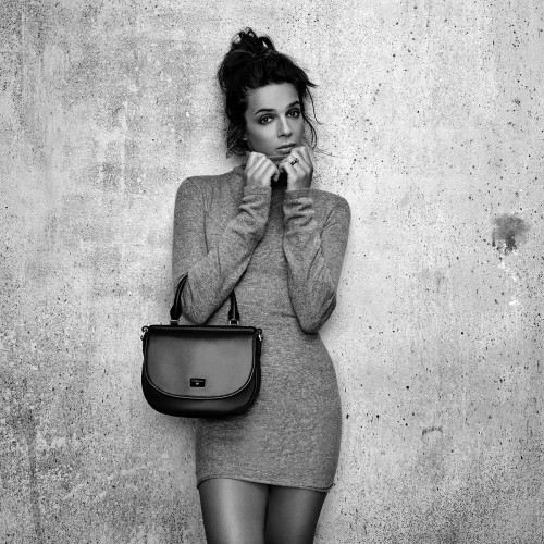 Je t'attends, je t'aime N°2 leather bag